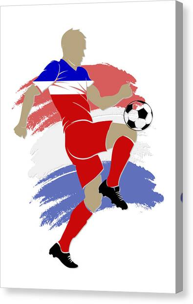 Soccer Teams Canvas Print - Usa Soccer Player by Joe Hamilton