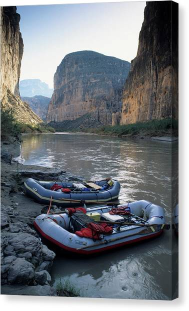 Rio Grande River Canvas Print - Usa, Texas, Rafting Boquillas Canyon by Gerry Reynolds
