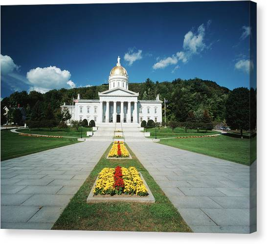 Capitol Building Canvas Print - Usa, Vermont, Montpelier, Vermont State by Walter Bibikow