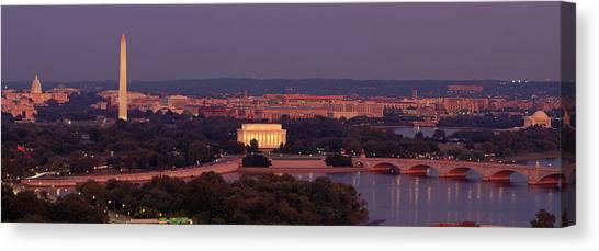 Washington Monument Canvas Print - Usa, Washington Dc, Aerial, Night by Panoramic Images