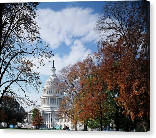 Capitol Building Canvas Print - Usa, Washington Dc, View Of Capitol by Scott T. Smith