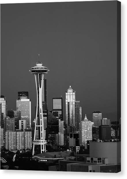 Usa, Washington State, Seattle, Space Canvas Print by Adam Jones