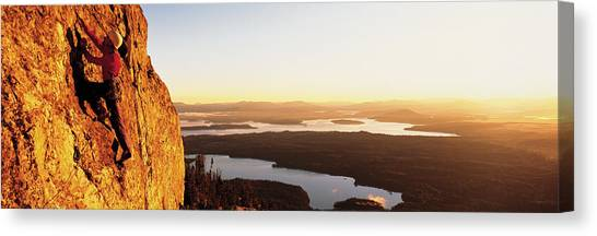 Wy Canvas Print - Usa, Wyoming, Grand Teton Park, Climber by Panoramic Images