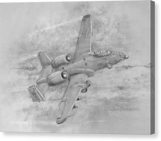 Usaf Fairchild-republic  A-10 Warthog Canvas Print