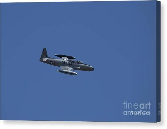 Usaf Lockheed T-33 'tr-953' Fly By Canvas Print