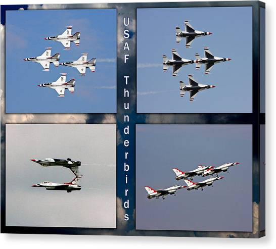 Usaf Thunderbirds Canvas Print
