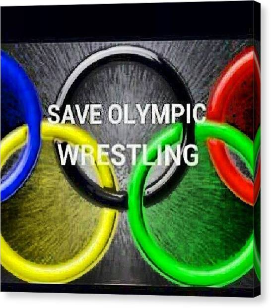 Wrestling Canvas Print - @usawrestling #saveit #thismatters !! by Wes Boese