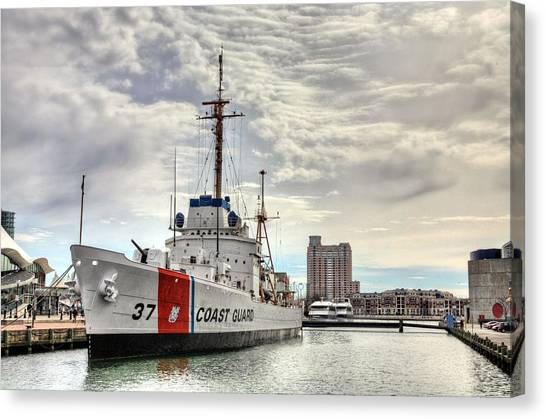Coast Guard Canvas Print - Uscg Cutter Taney by JC Findley