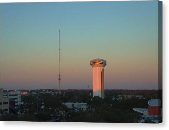 University Of South Florida Canvas Print - Usf Watertower by Ronald Chacon