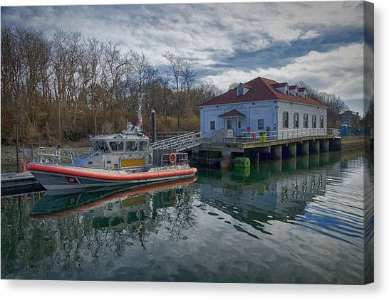 Coast Guard Canvas Print - Usgs Castle Hill Station by Joan Carroll