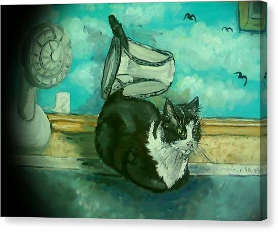Uss Catboat Canvas Print