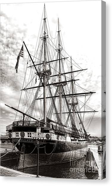 Baltimore Maryland Canvas Print - Uss Constellation by Olivier Le Queinec