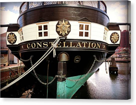 Coast Guard Canvas Print - Uss Constellation by Stephen Stookey