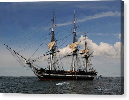 Uss Constitution - Featured In Comfortable Art Group Canvas Print