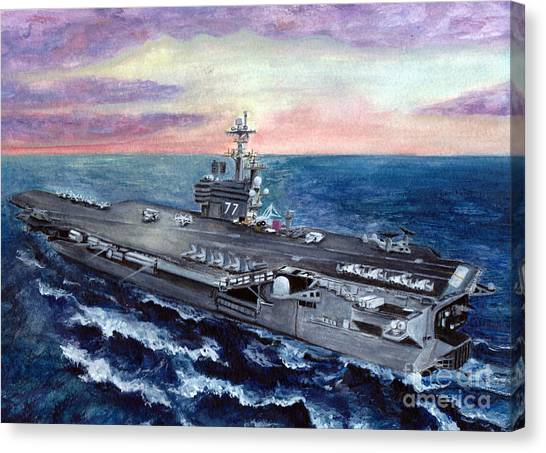 George Bush Canvas Print - Uss George H.w. Bush by Sarah Howland-Ludwig
