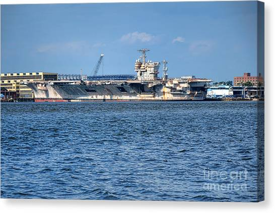 67 Canvas Print - Uss John Kennedy by Olivier Le Queinec