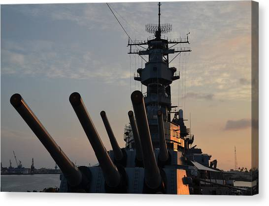 Uss Missouri Pearl Harbor Hi Canvas Print