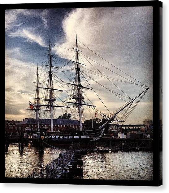 Massachusetts Canvas Print - #ussconstitution #tallship #charlestown by Joann Vitali