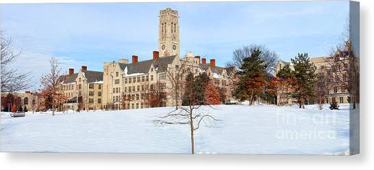 University Of Toledo Canvas Print - Ut Panorama In Winter  by Jack Schultz
