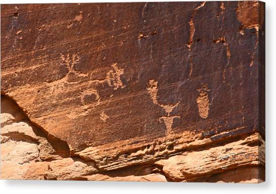 Utah Indian Writing Canvas Print