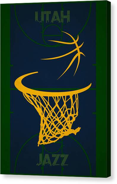 Utah Jazz Canvas Print - Utah Jazz Court by Joe Hamilton