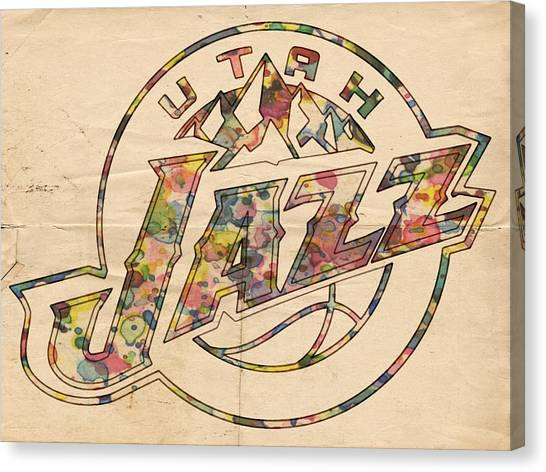 Utah Jazz Canvas Print - Utah Jazz Poster Art by Florian Rodarte
