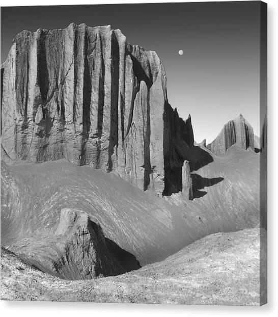 Black Rock Desert Canvas Print - Utah Outback 20 by Mike McGlothlen