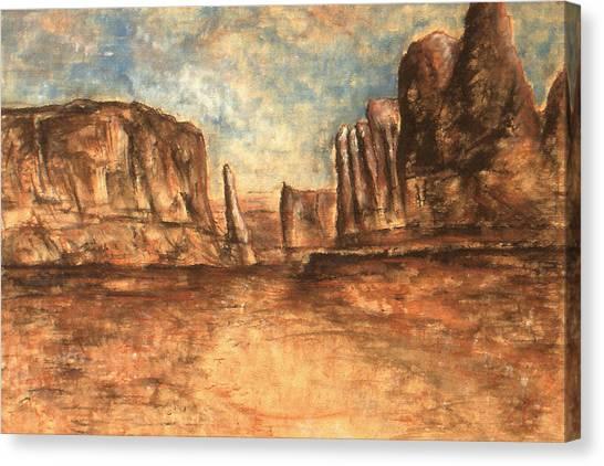 Utah Red Rocks - Landscape Art Painting Canvas Print