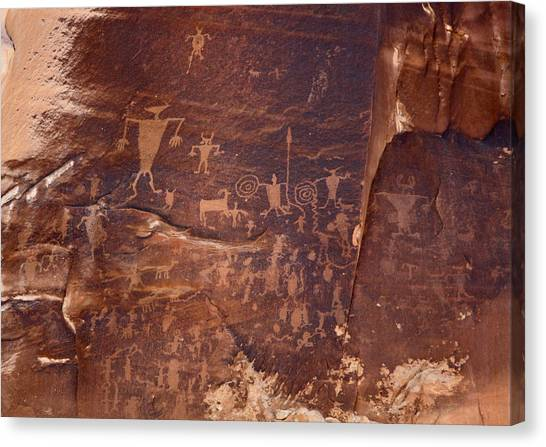 Utah Rock Art Canvas Print