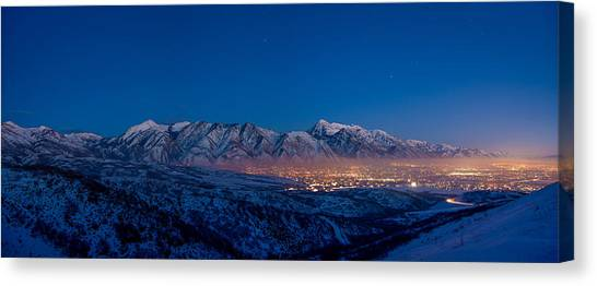 Utah Canvas Print - Utah Valley by Chad Dutson