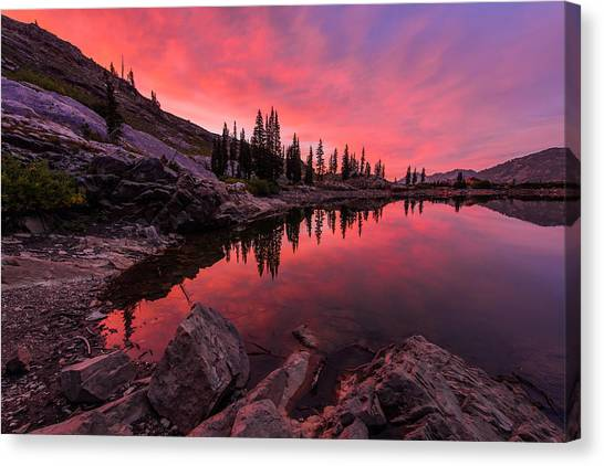 Mountain Sunset Canvas Print - Utah's Cecret by Chad Dutson