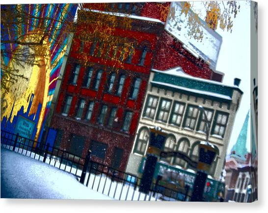 Utica In The Winter Canvas Print by Stephanie Grooms