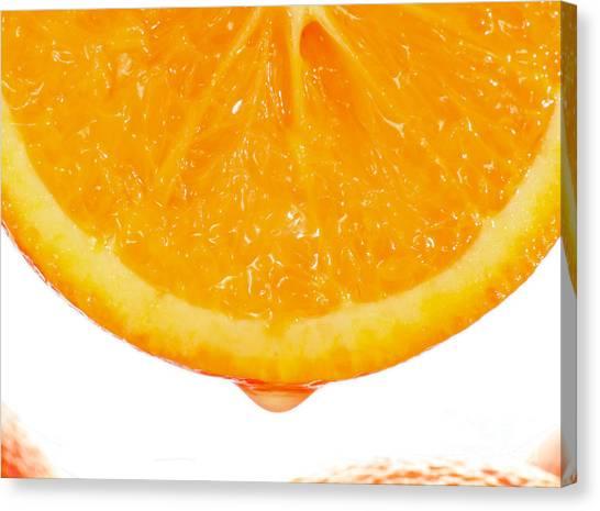 Juice Canvas Print - Utterly Orange by Paul Cowan