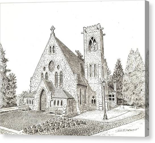 Acc Canvas Print - Uva Chapel by John Hopson