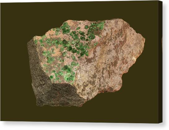 Ural Mountains Canvas Print - Uvarovite Garnet by Science Stock Photography/science Photo Library