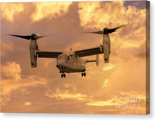 Special Forces Canvas Print - V-22 Ospey by J Biggadike