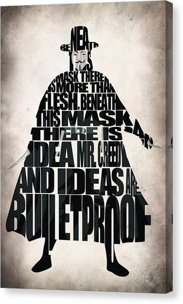 Media Canvas Print - V For Vendetta by Inspirowl Design