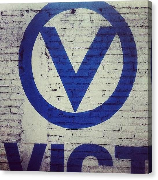 Graffiti Walls Canvas Print - V For Victory by Bob Cooper