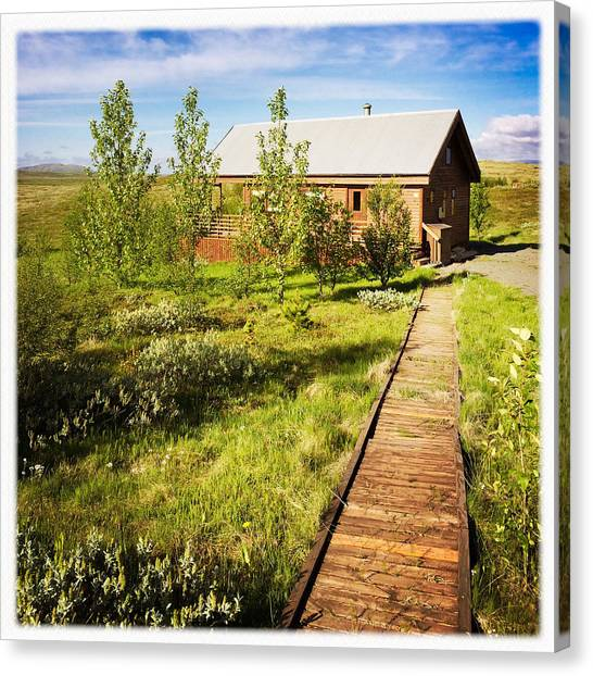 Vacations Canvas Print - Vacation Home In South Iceland by Matthias Hauser