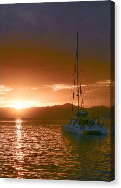 Vacation Sunset Canvas Print by    Michael Glenn