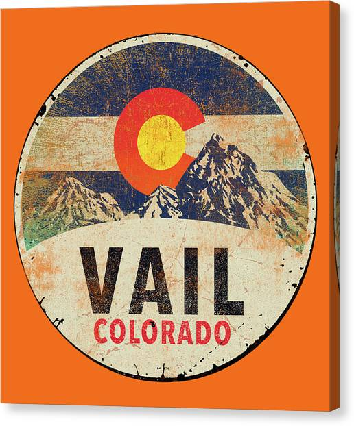 Colorado Canvas Print - Vail by Jim Baldwin