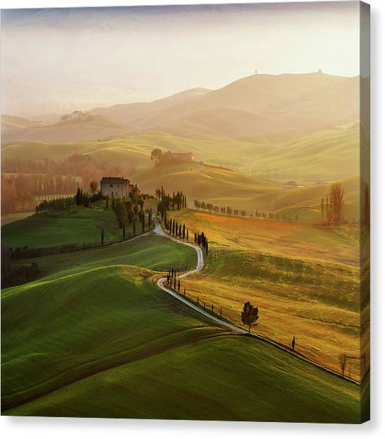Val D\'orcia Canvas Print by Jarek Pawlak