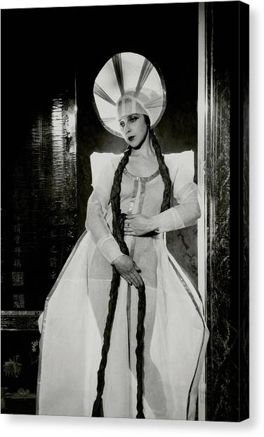 Valentina Koshubaas The Bride In Les Noces Canvas Print by Cecil Beaton