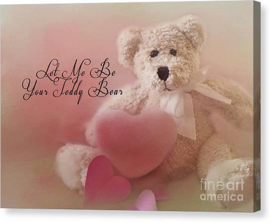 Valentine Bear 2 Canvas Print
