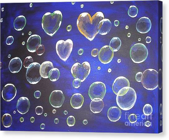 Valentine Bubbles Canvas Print