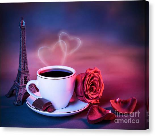 Sweet Tea Canvas Print - Valentine Day Still Life by Anna Om