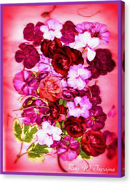 Valentine Flowers For You Canvas Print by Ray Tapajna