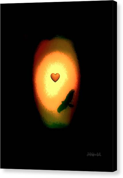 Valentine Heart 1 Canvas Print by Brian D Meredith