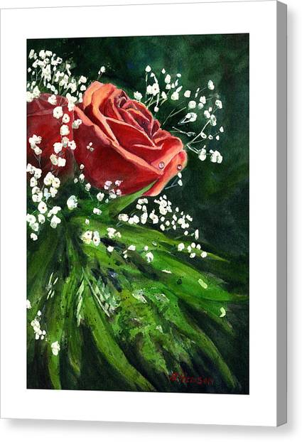 Valentine Rose Canvas Print