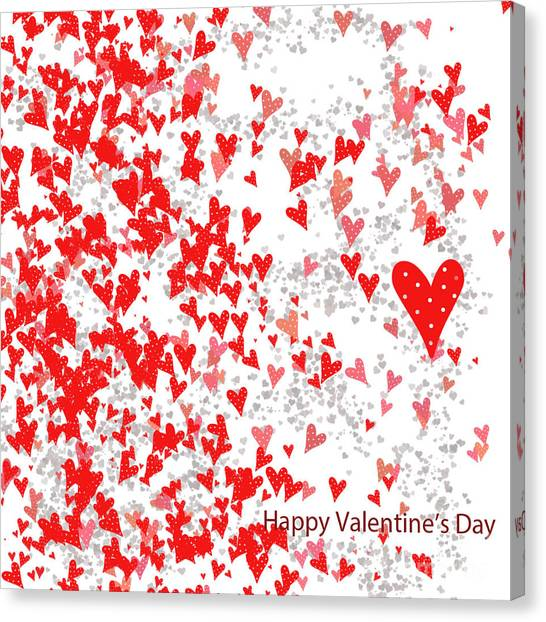 Valentine's Day Card Canvas Print